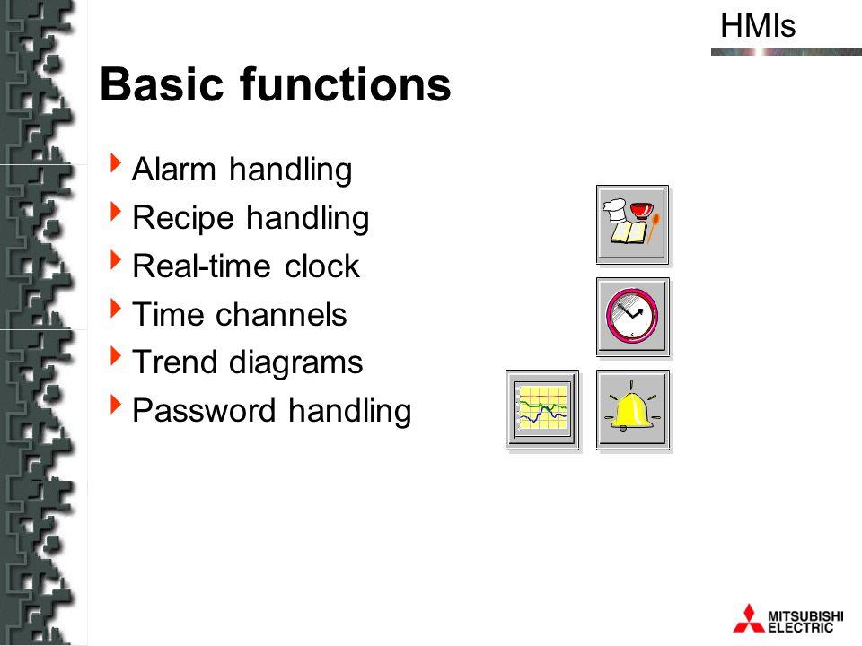 Basic functions Alarm handling Recipe handling Real-time clock