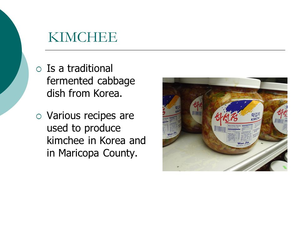 KIMCHEE Is a traditional fermented cabbage dish from Korea.