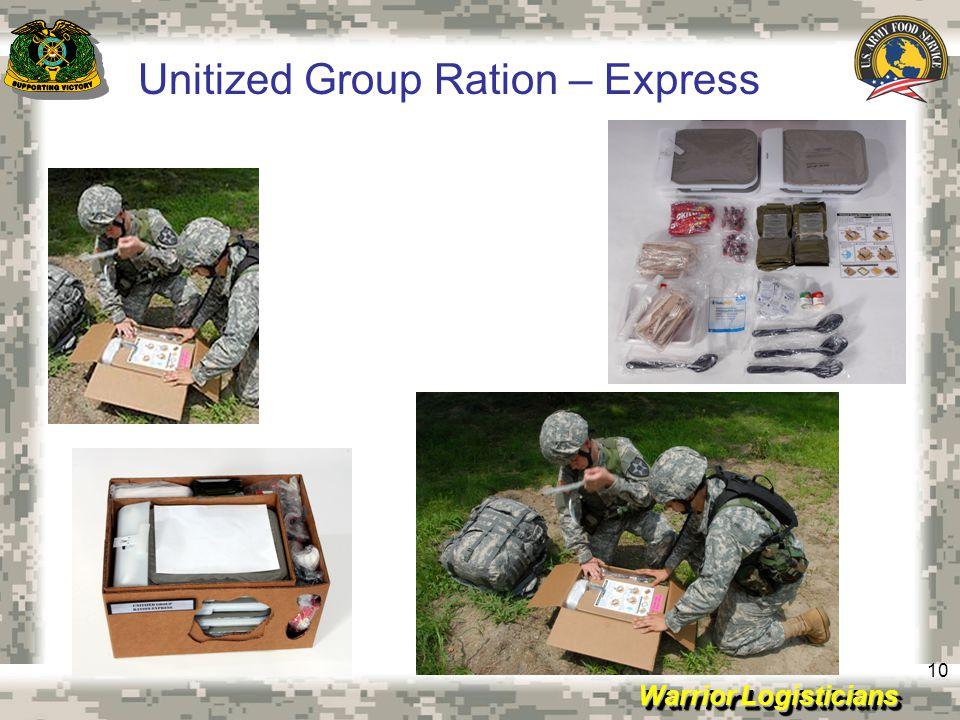 Unitized Group Ration – Express