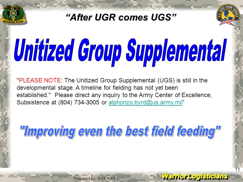Unitized Group Supplemental Improving even the best field feeding