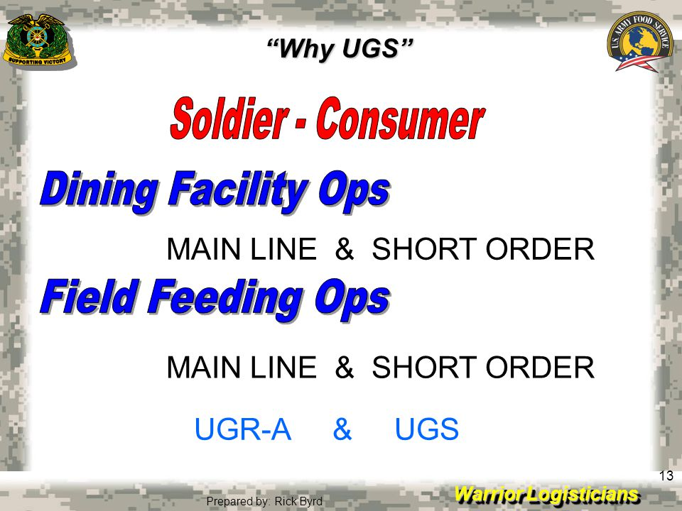 Dining Facility Ops Field Feeding Ops