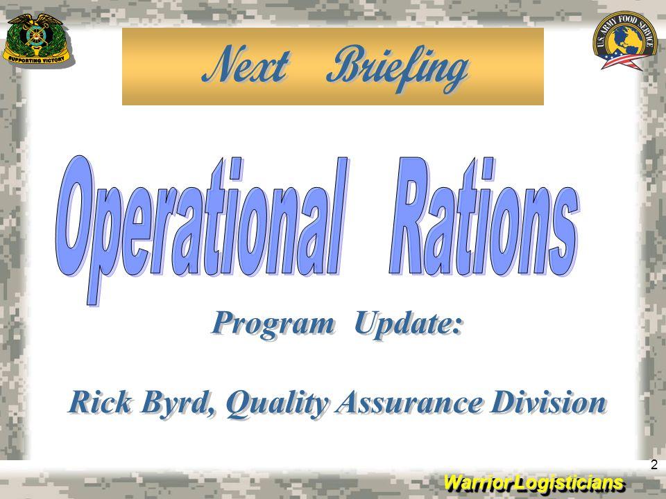 Rick Byrd, Quality Assurance Division