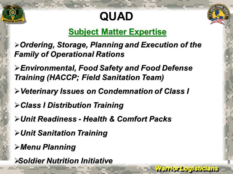 Subject Matter Expertise