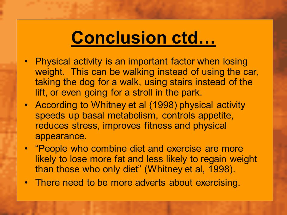 Conclusion ctd…