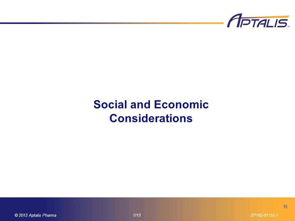 Social and Economic Considerations
