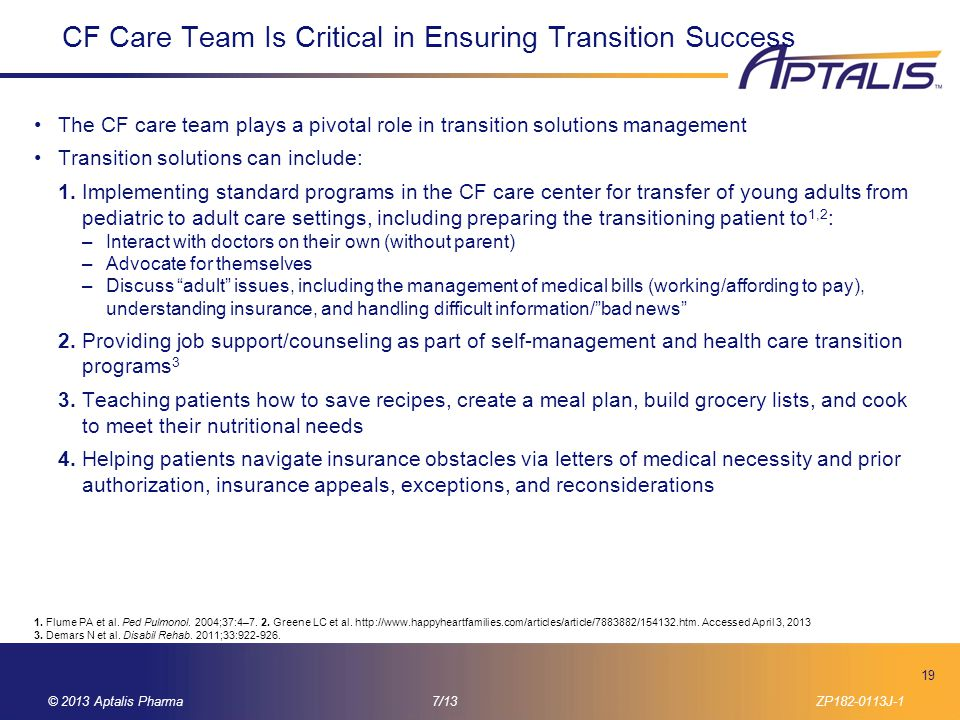CF Care Team Is Critical in Ensuring Transition Success