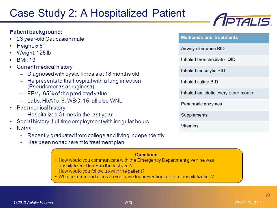 Case Study 2: A Hospitalized Patient
