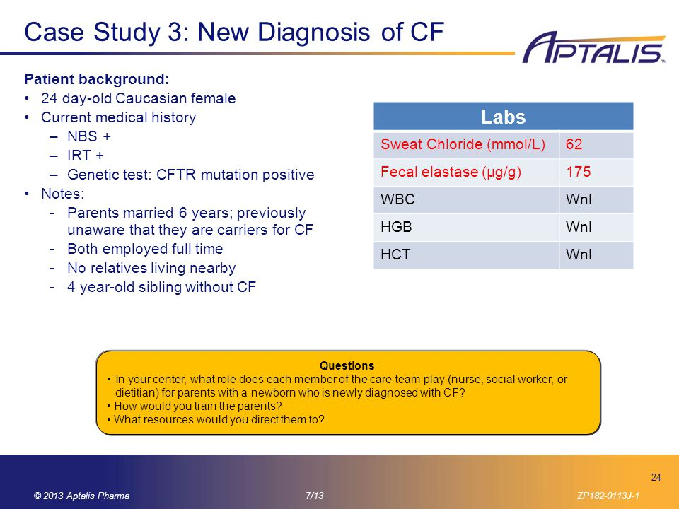 Case Study 3: New Diagnosis of CF