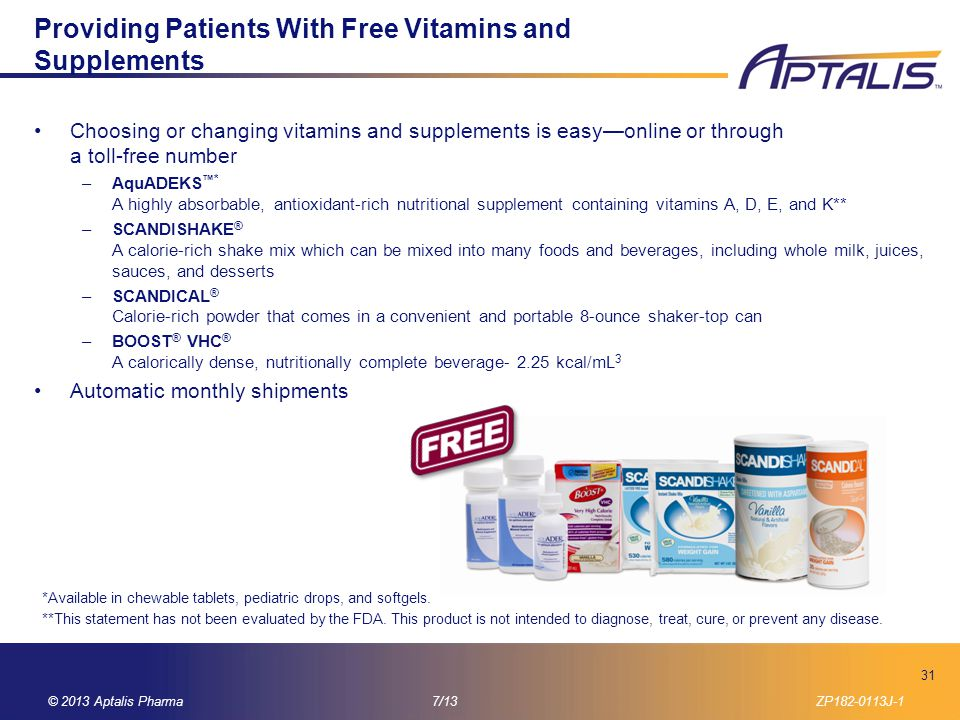Providing Patients With Free Vitamins and Supplements