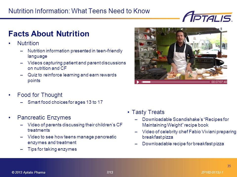 Nutrition Information: What Teens Need to Know