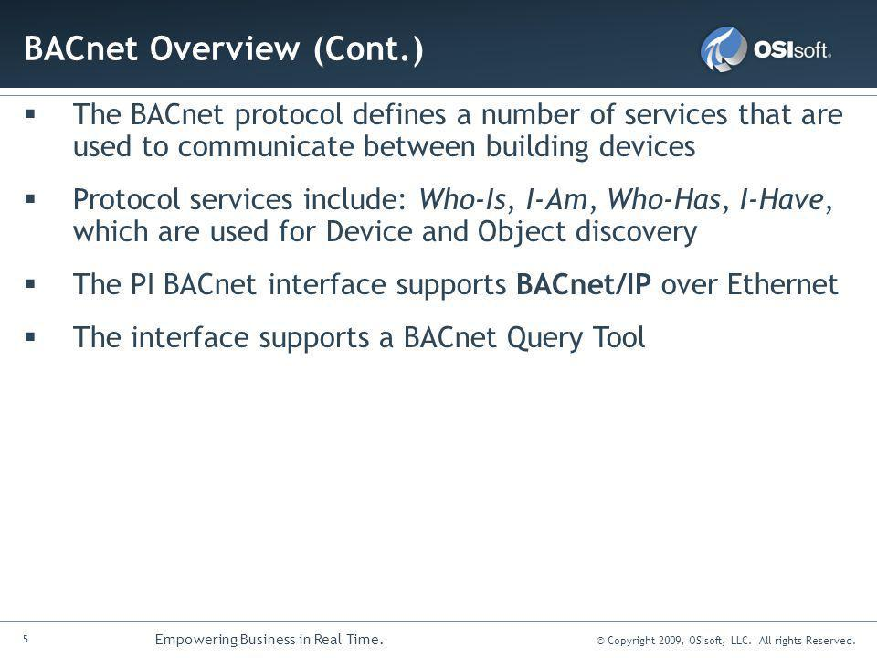 BACnet Overview (Cont.)