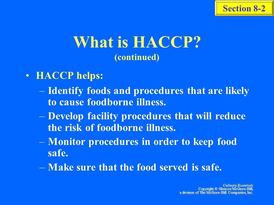 What is HACCP (continued)