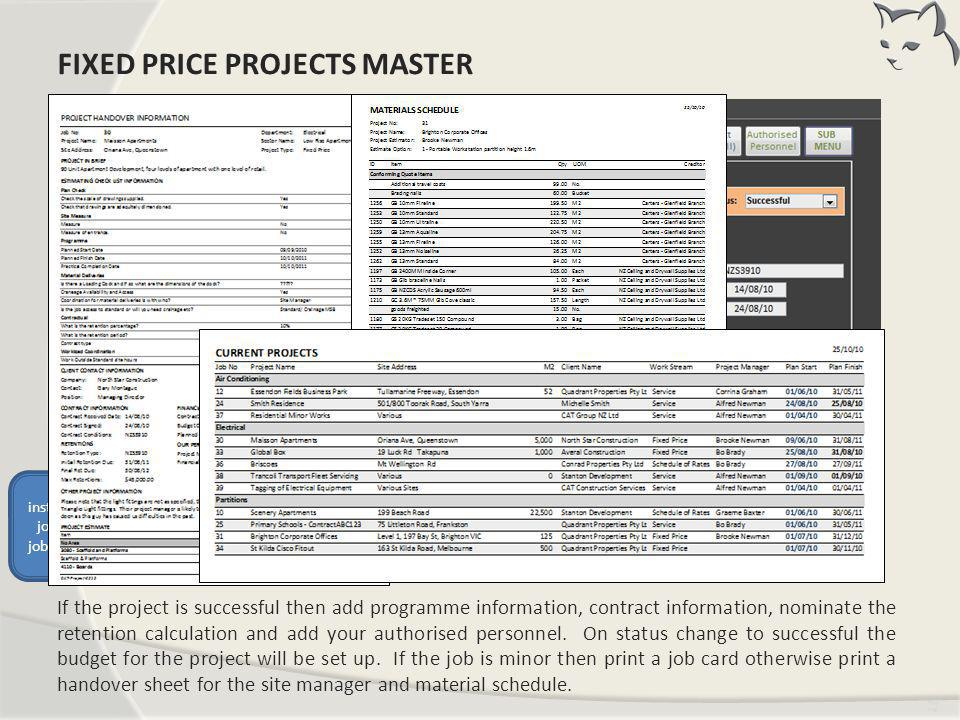 Fixed Price Projects Master