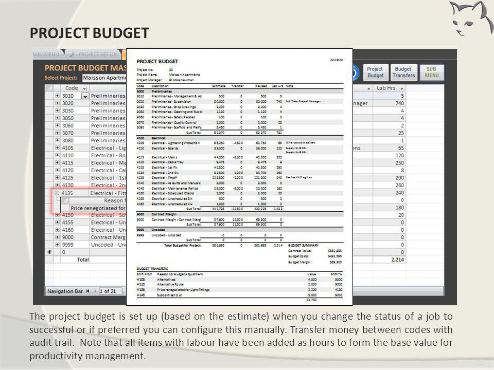Project Budget PROJECT BUDGET
