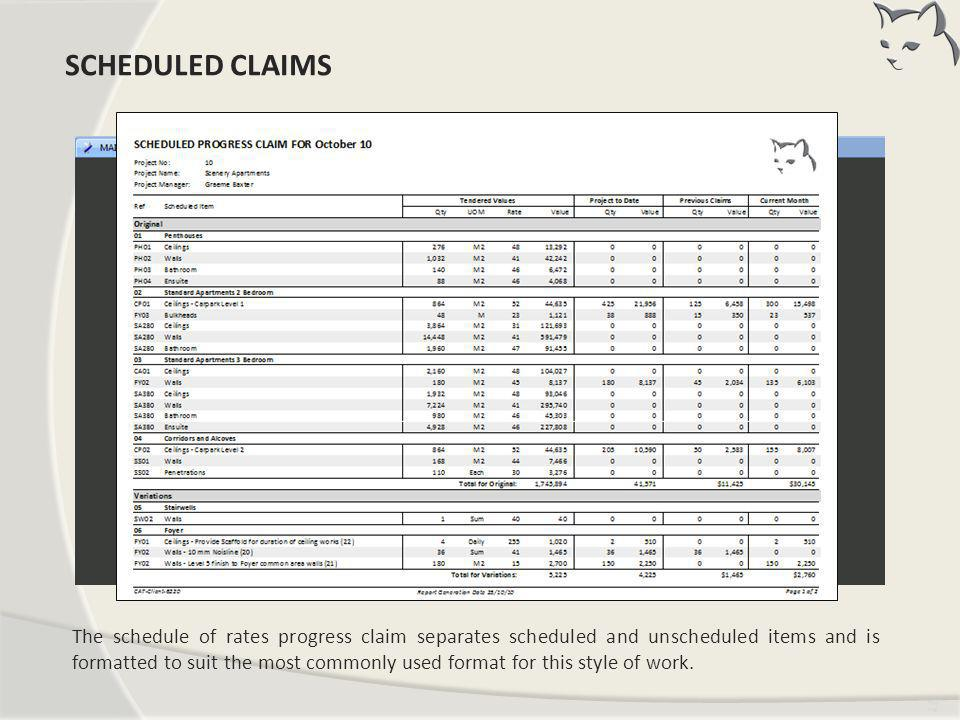 Scheduled Claims SCHEDULED CLAIMS