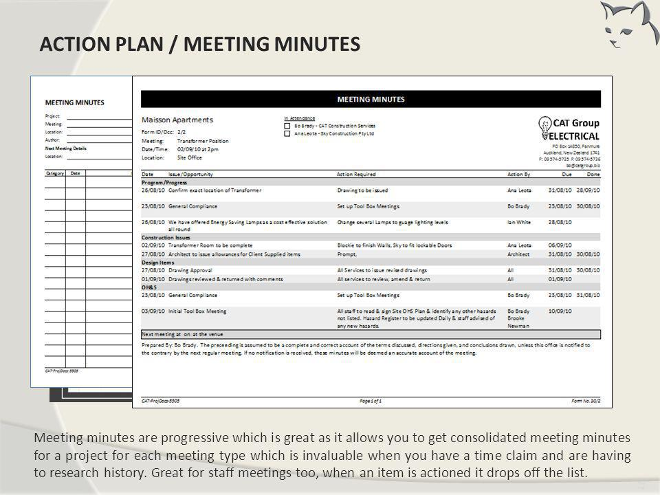 Action Plan / Meeting Minutes