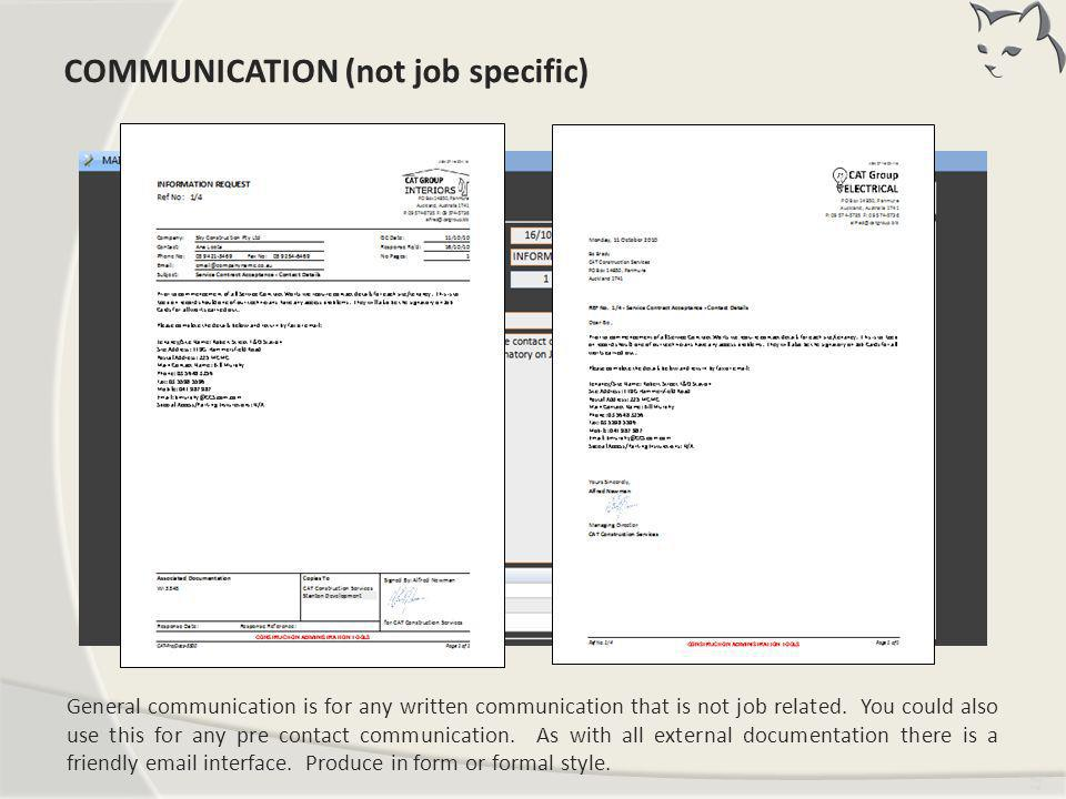 Communication (not job specific)
