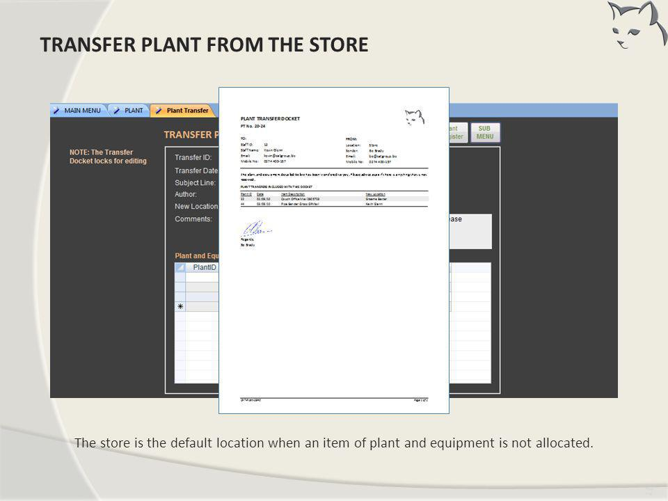 Transfer Plant From Store