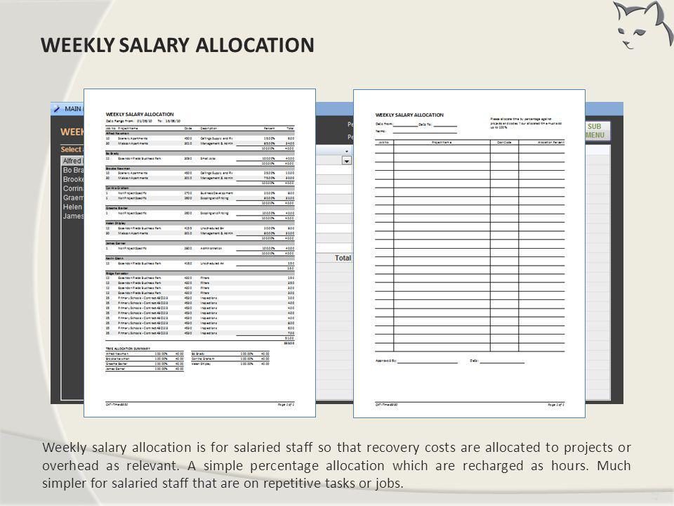 Weekly Salary Allocation