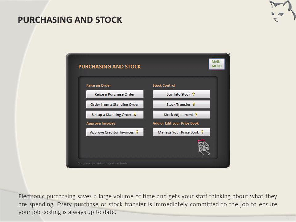 PURCHASING AND STOCK PURCHASING AND STOCK
