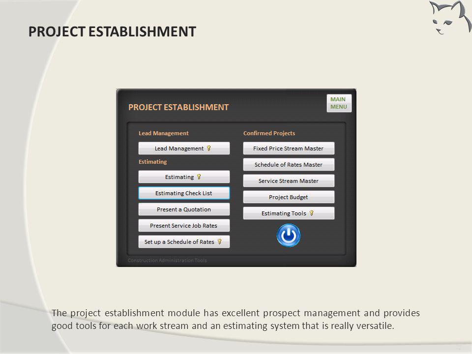 PROJECT ESTABLISHMENT