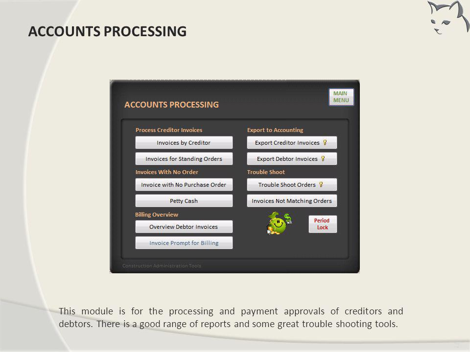 ACCOUNTS PROCESSING ACCOUNTS PROCESSING