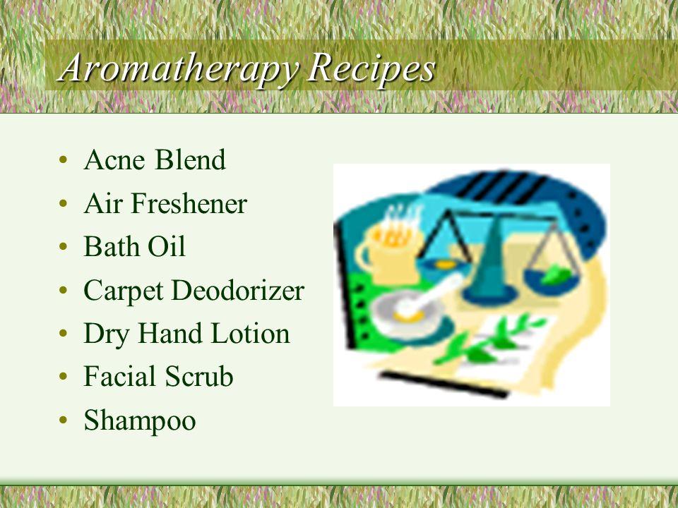 Aromatherapy Recipes Acne Blend Air Freshener Bath Oil