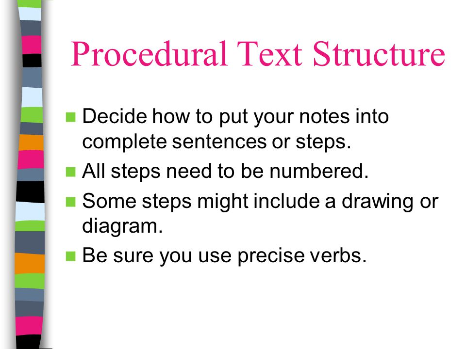 Procedural Text Structure