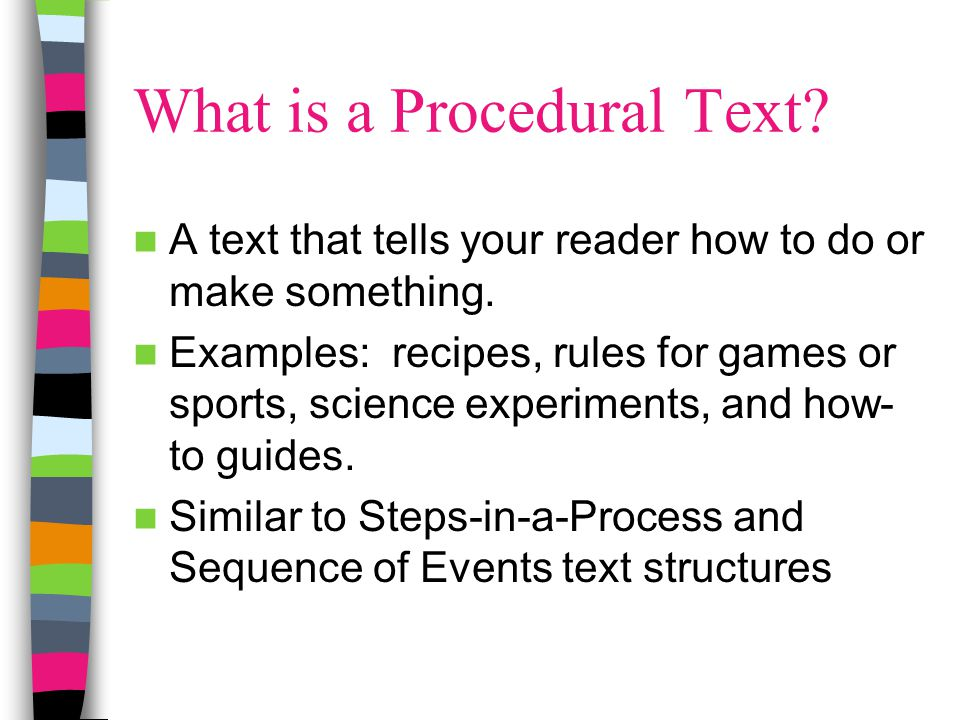 What is a Procedural Text