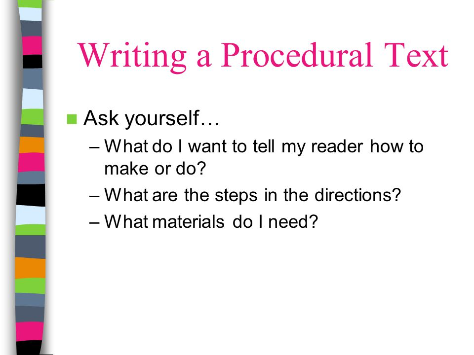 Writing a Procedural Text