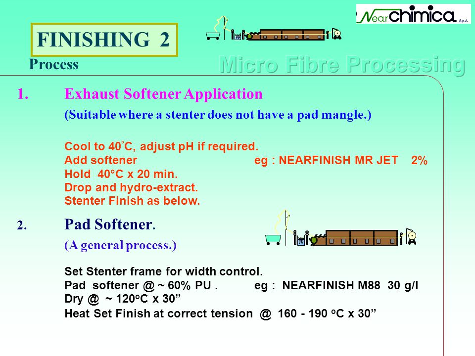 FINISHING 2 Process 1. Exhaust Softener Application