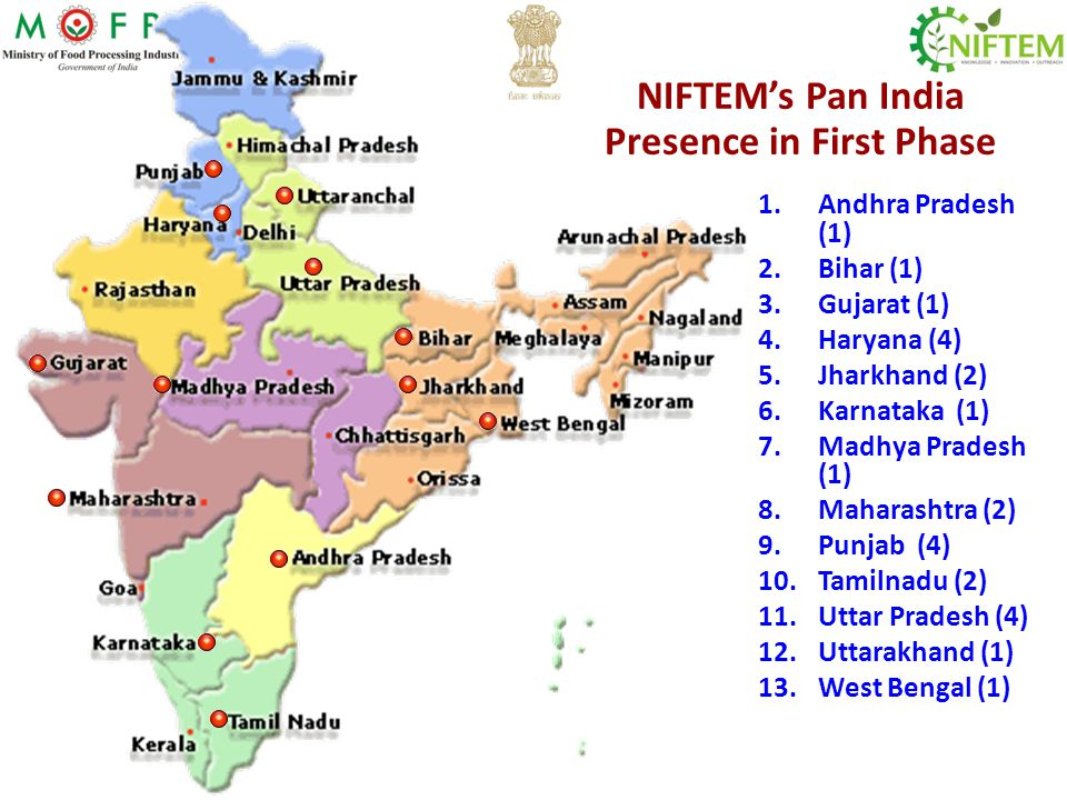 NIFTEM's Pan India Presence in First Phase