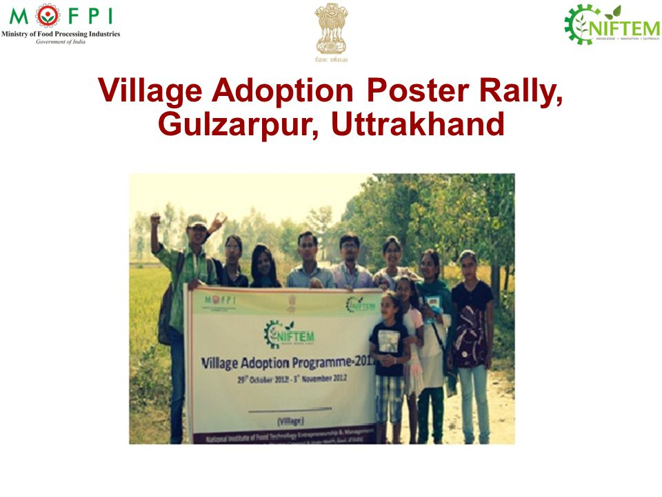 Village Adoption Poster Rally, Gulzarpur, Uttrakhand