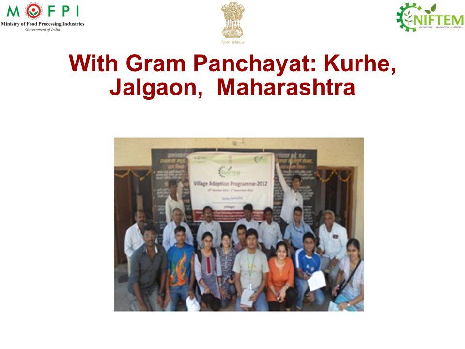 With Gram Panchayat: Kurhe, Jalgaon, Maharashtra