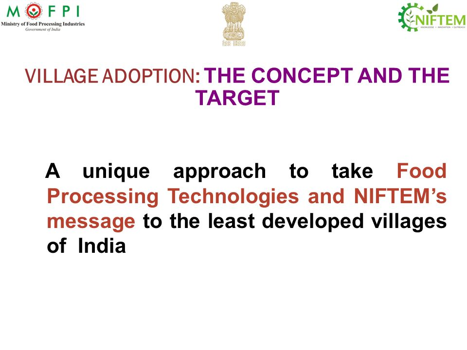 VILLAGE ADOPTION: THE CONCEPT AND THE TARGET