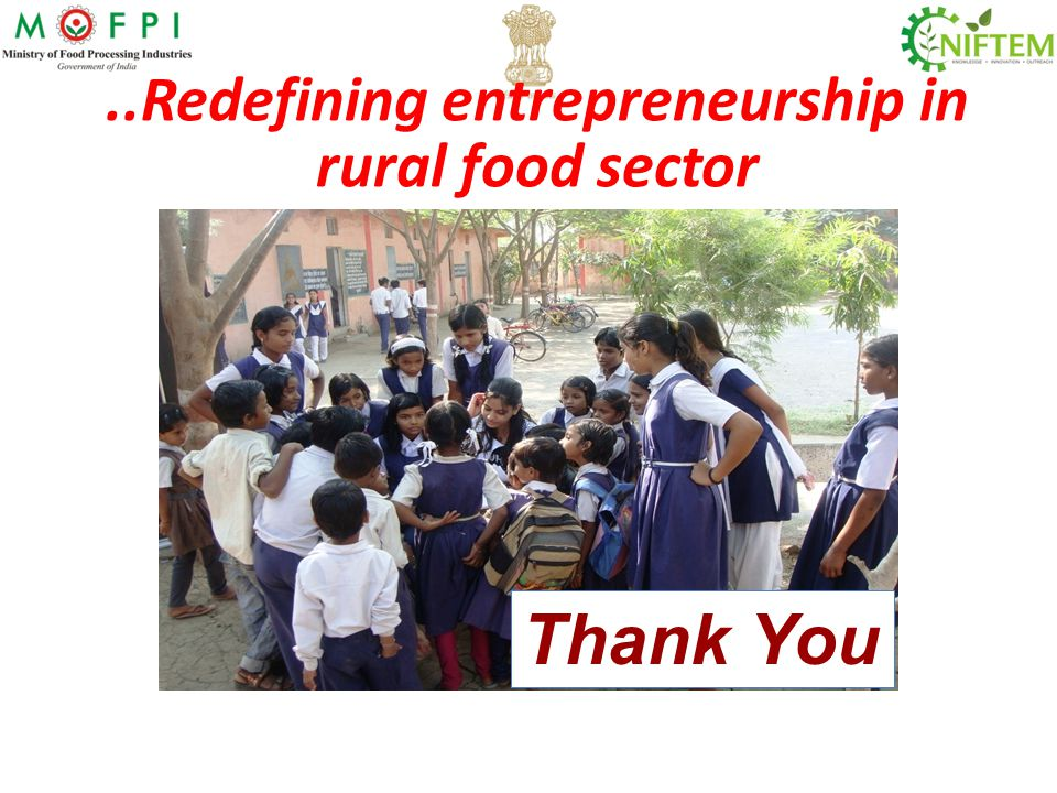 ..Redefining entrepreneurship in rural food sector
