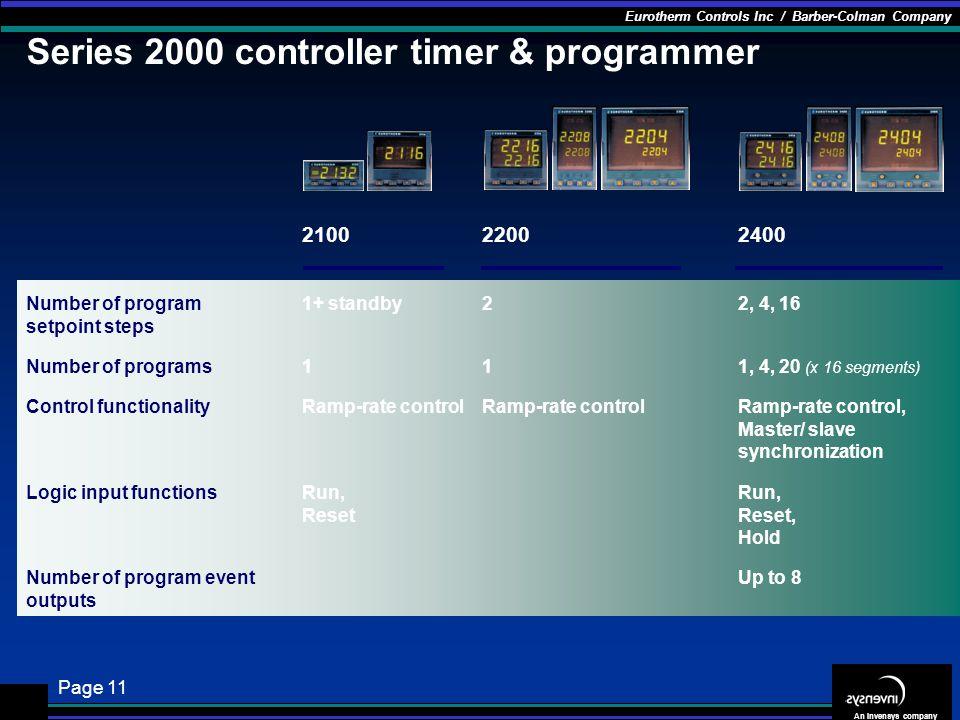 Series 2000 controller timer & programmer