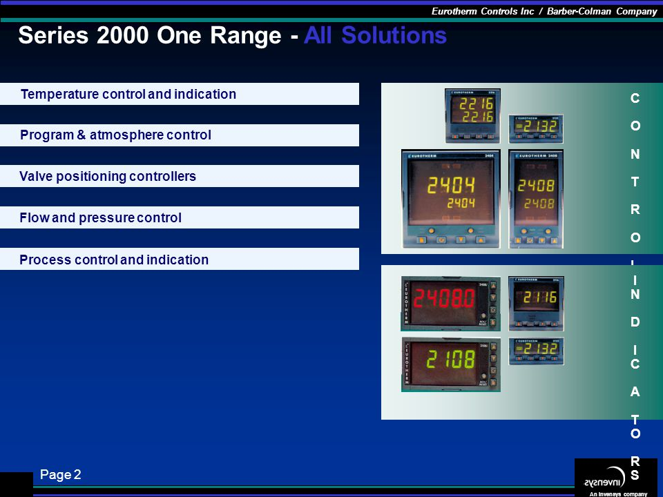 Series 2000 One Range - All Solutions
