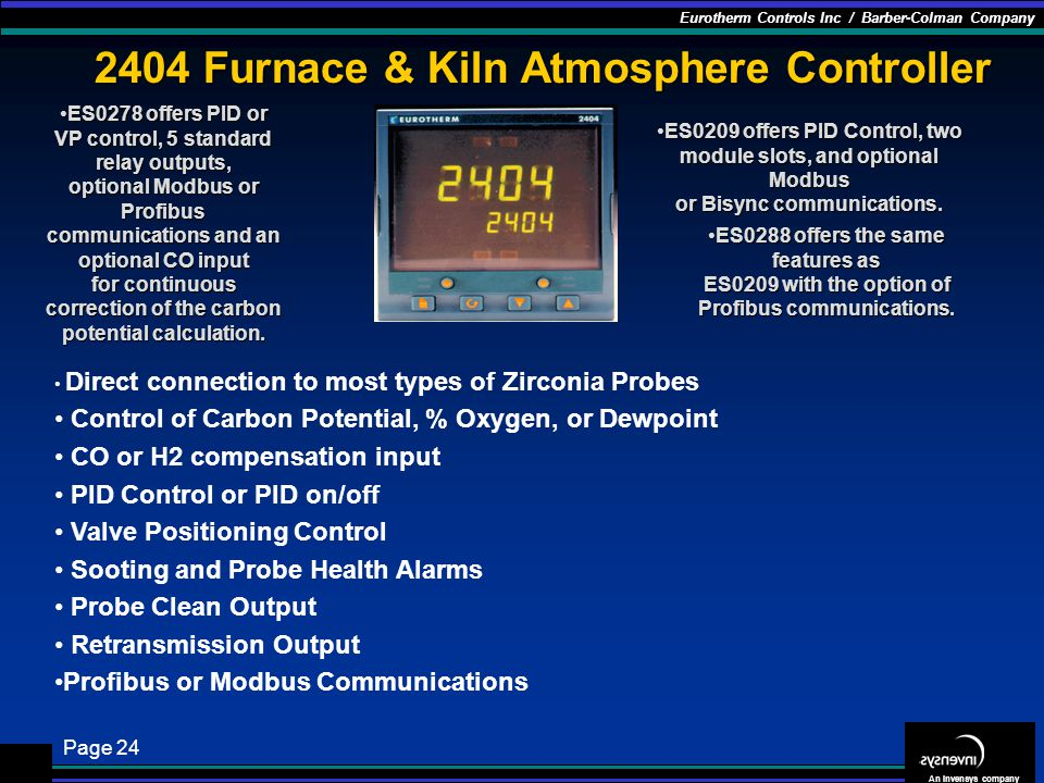 2404 Furnace & Kiln Atmosphere Controller