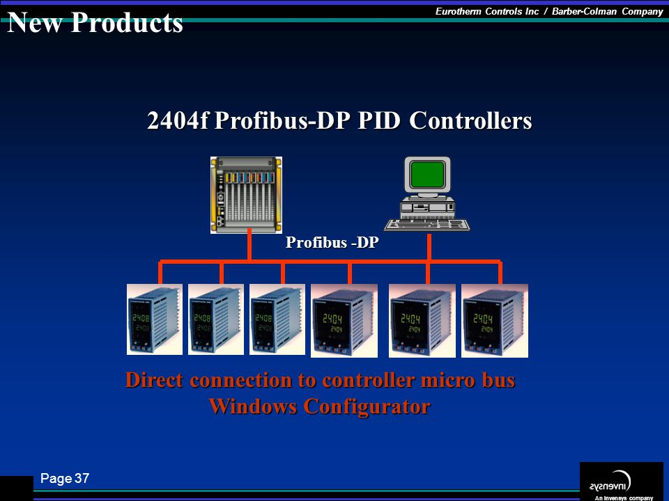 New Products 2404f Profibus-DP PID Controllers