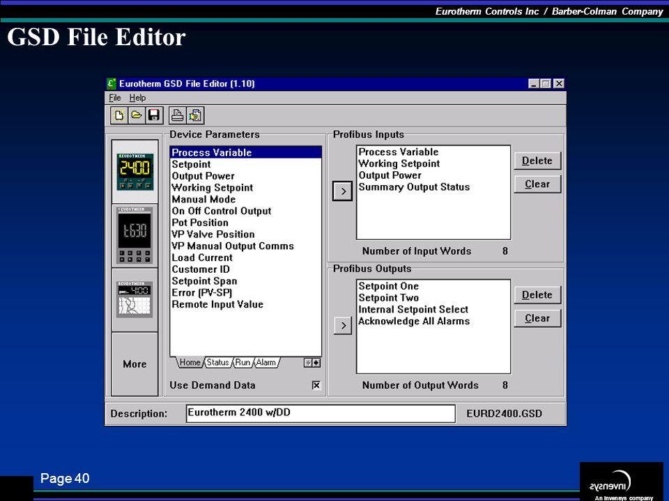 GSD File Editor