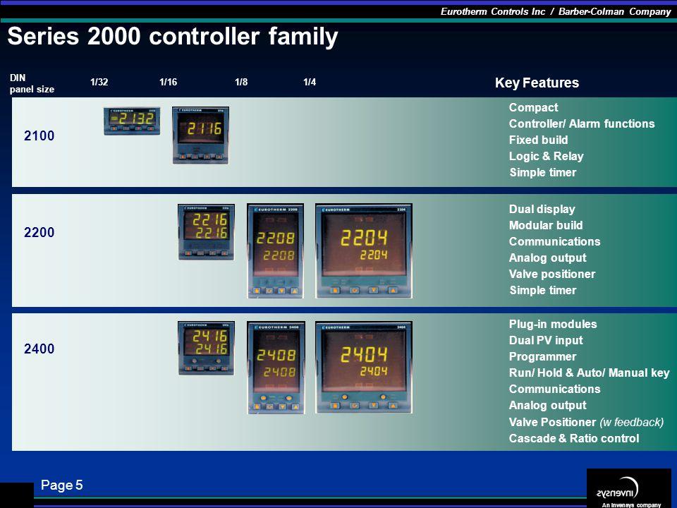 Series 2000 controller family