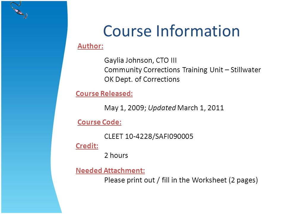 Course Information Author:
