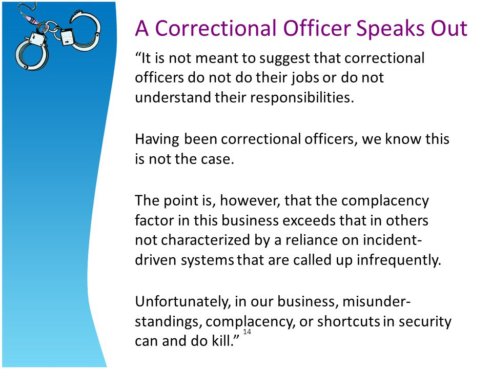 A Correctional Officer Speaks Out