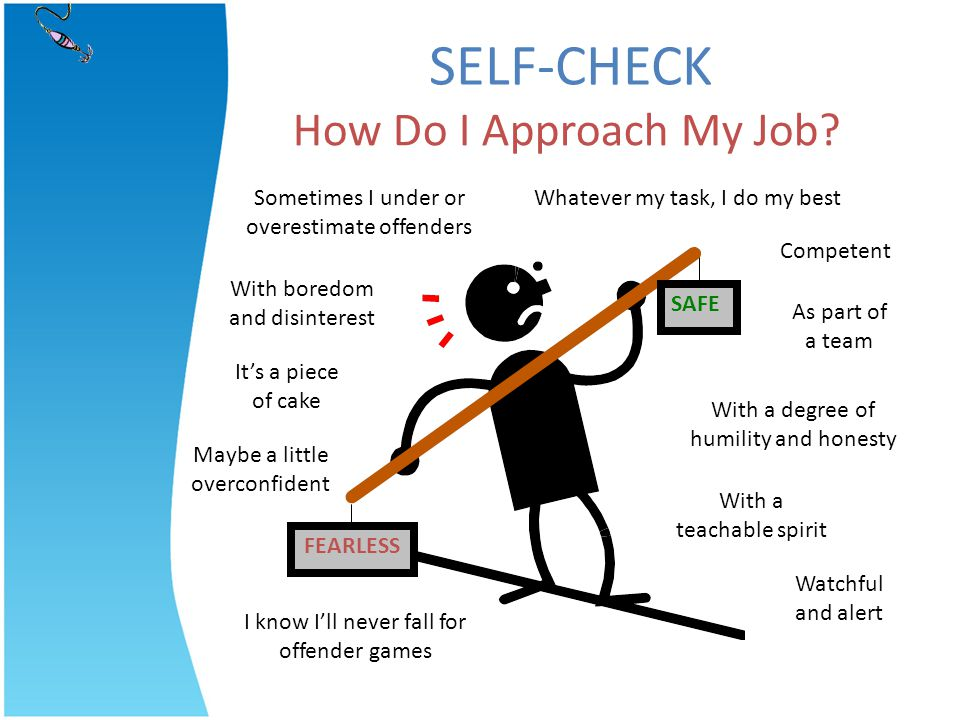 SELF-CHECK How Do I Approach My Job