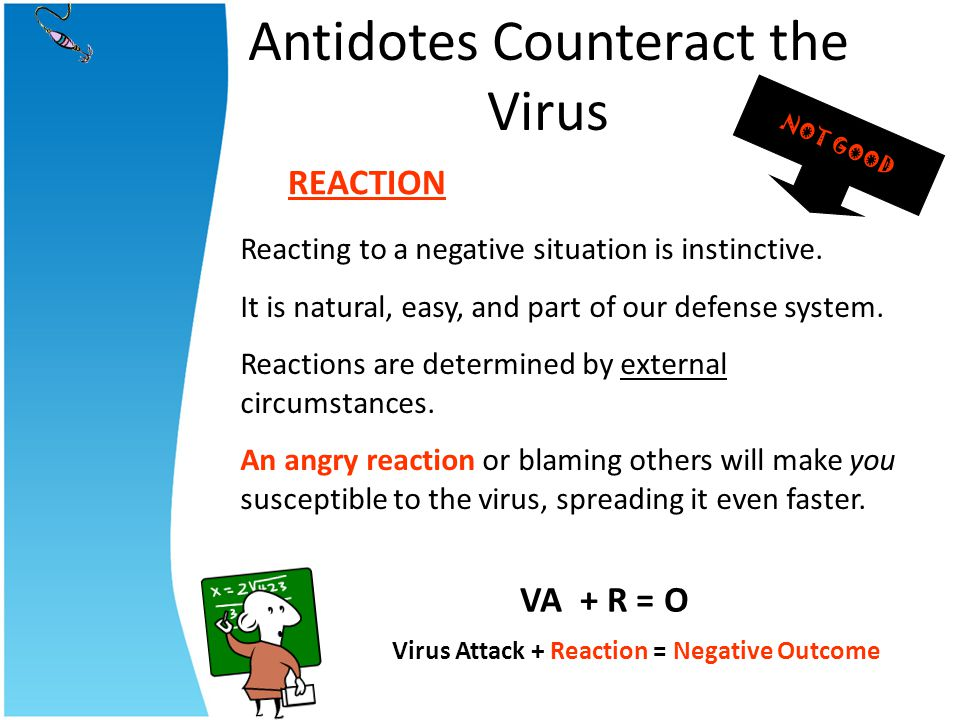 Antidotes Counteract the Virus