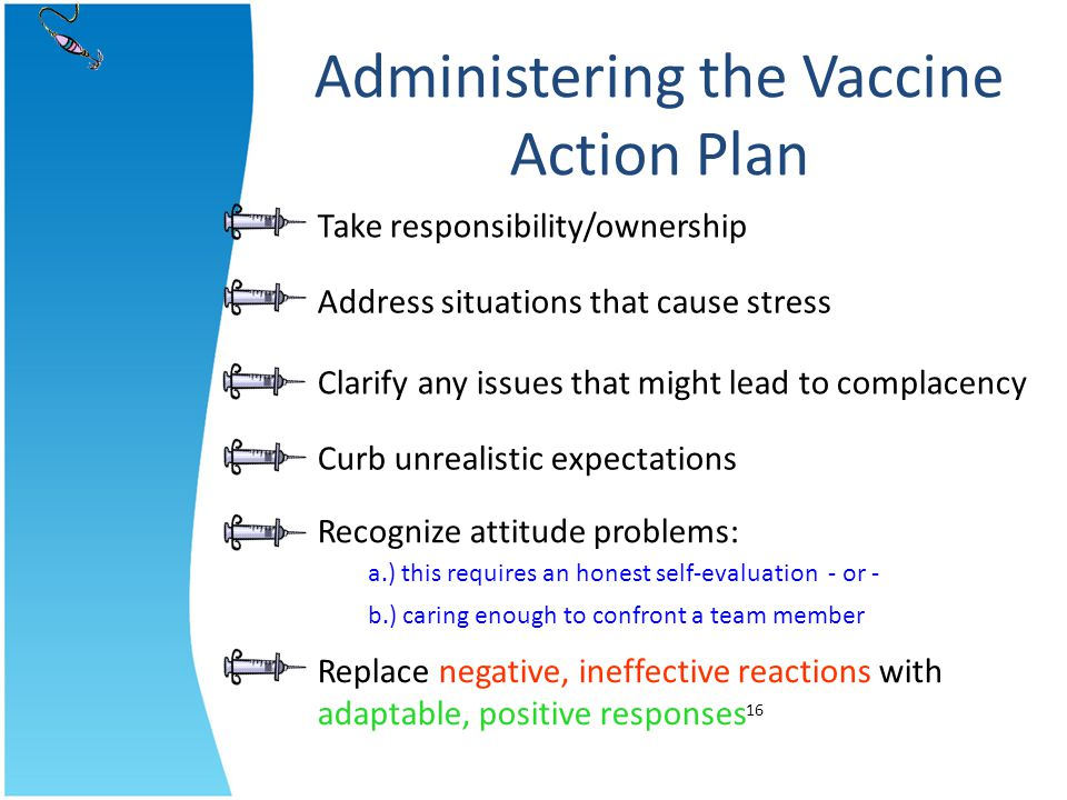 Administering the Vaccine Action Plan