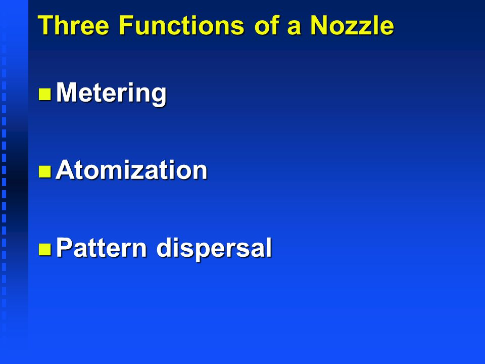 Three Functions of a Nozzle
