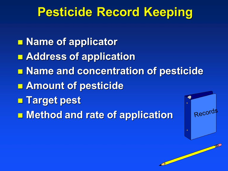 Pesticide Record Keeping
