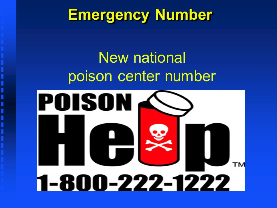 Emergency Number New national poison center number